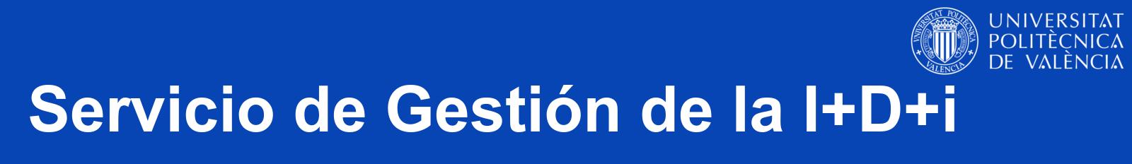 Servicio de Gestión de la I+D+i – Blog oficial